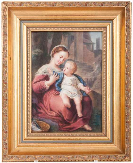 Porcelain image of 'Madonna and child,' after Correggio - photo 1