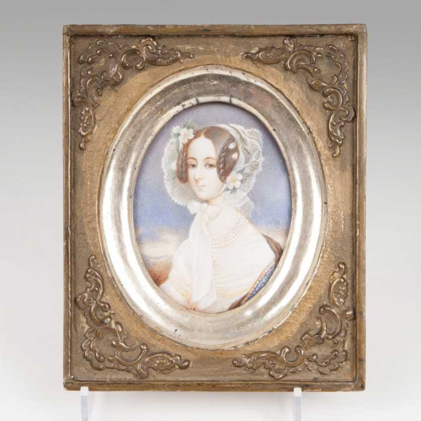 Miniature painters active in the mid-19th century. Century. Empress Maria Anna of Austria - photo 1