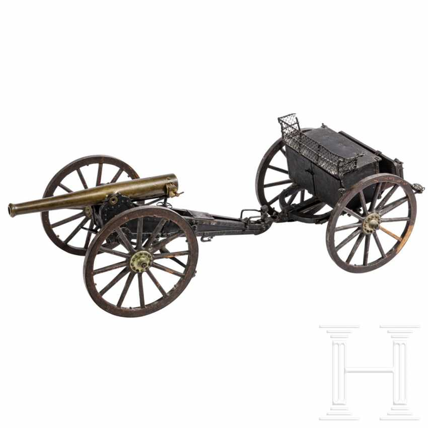 Training model of a field gun with limber, dated 1876 - photo 1