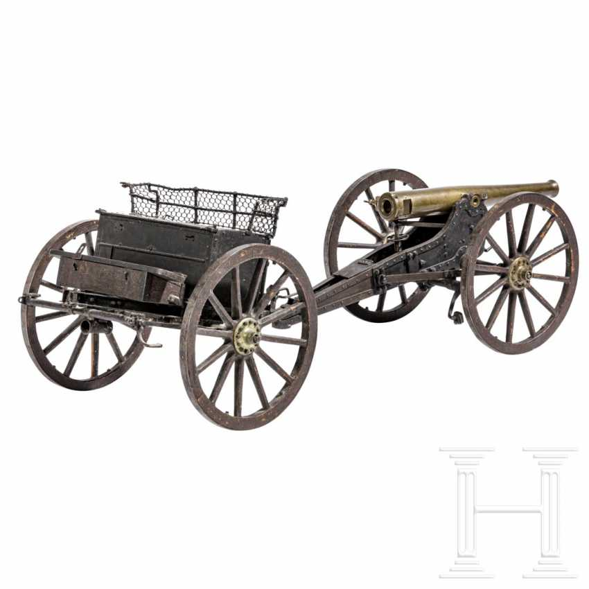 Training model of a field gun with limber, dated 1876 - photo 2