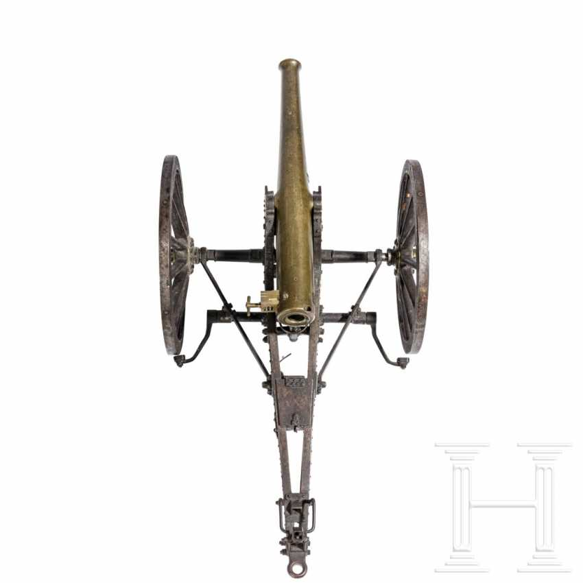 Training model of a field gun with limber, dated 1876 - photo 3