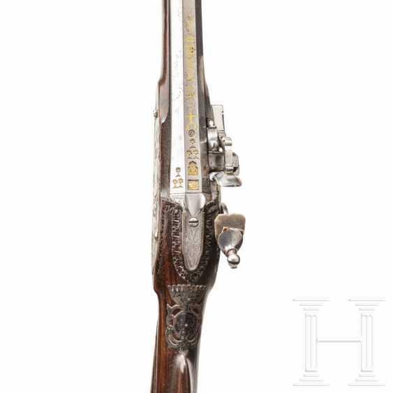Silver-mounted snap-lock shotgun, Italy, around 1750 - photo 4