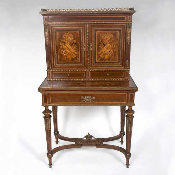 Napoleon III writing Desk or Bonheur du Jour, with inlaid wood - photo 1