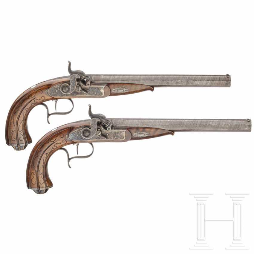A pair of percussion pistols, Adam Kuchenreuter, Regensburg, around 1850 - photo 1