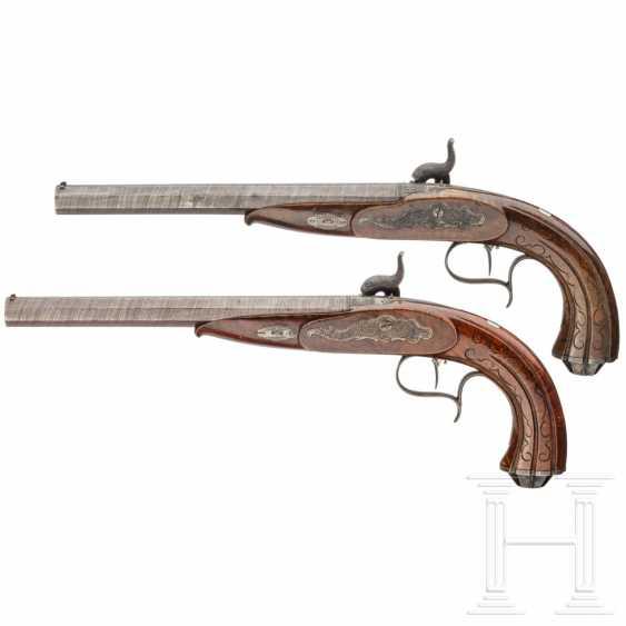 A pair of percussion pistols, Adam Kuchenreuter, Regensburg, around 1850 - photo 2