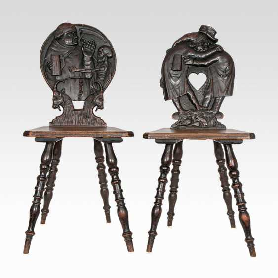 Two Historicism-Board Chairs - photo 1