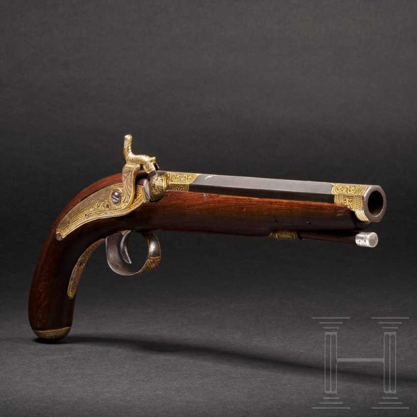 Gold inlaid percussion pistol, India, 2nd half of the 19th century - photo 1