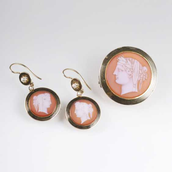 Agate jewelry with cameos of the 'Flora' - photo 1