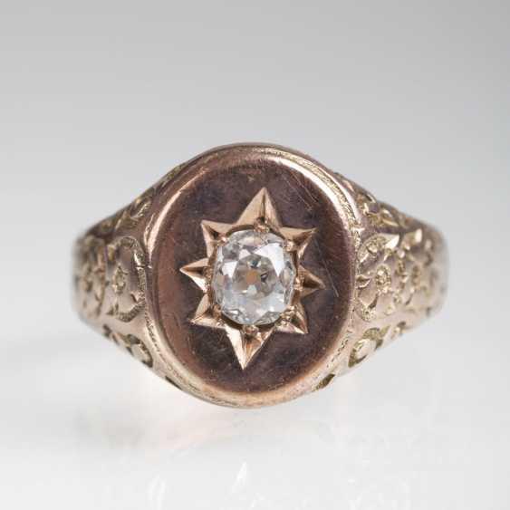 Antique Old European Cut Diamond Ring - photo 1