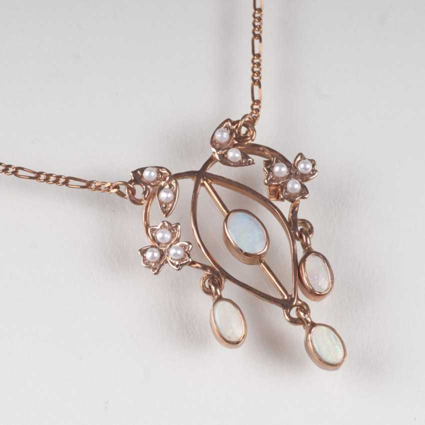 Petite Opal necklace in art Nouveau style - photo 1