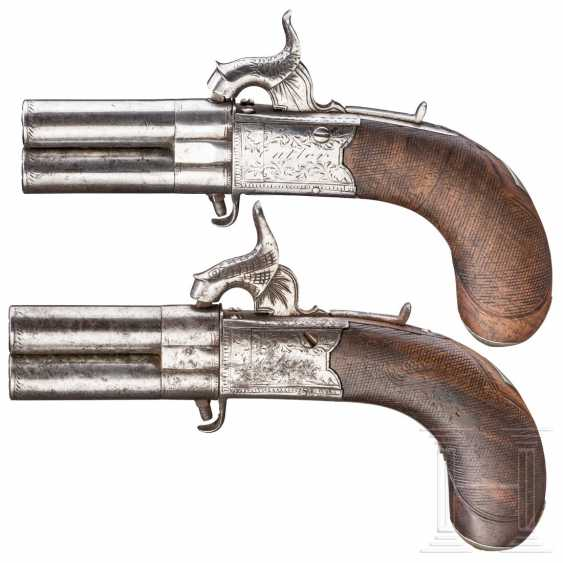 A pair of reversible percussion pistols, Cutler in London, circa 1840 - photo 2