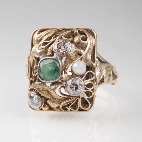 Vintage Smaragd-Diamant-Ring - photo 1