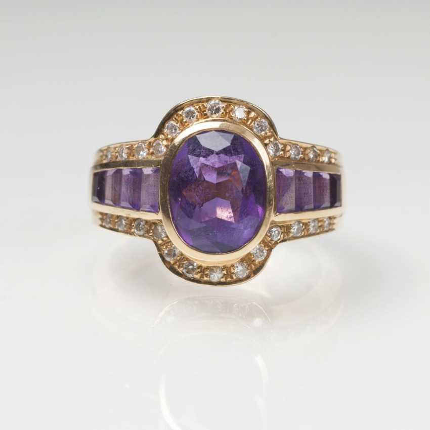 Amethyst-Brillant-Ring - photo 1