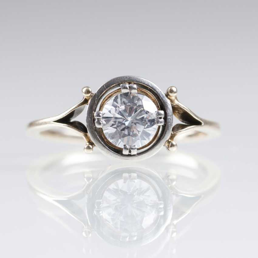 Solitaire Ring with old European cut diamond - photo 1
