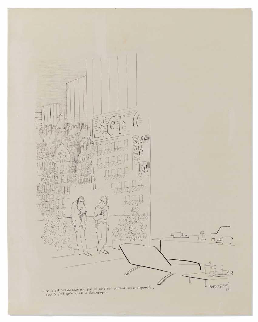 """SEMPÉ, Jean-Jacques (geb. 1932) """"Der Bastard"""" Originalzeichnung ... - Foto 1"""