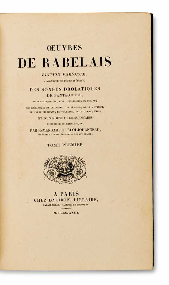 RABELAIS, François (c 1483-1553) Œuvres Édition variorum Aug... - photo 1