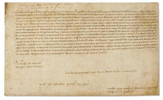 CHARLES II DE NAVARRE, DIT « LE MAUVAIS » (1332-1387) Lettre... - photo 1