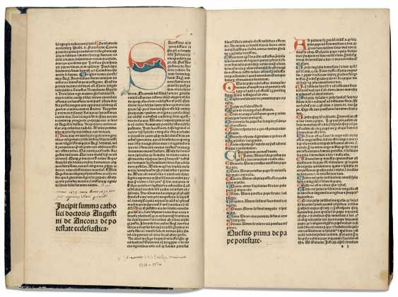 AUGUSTIN D'ANCÔNE (circa 1241-1328) Summa de ecclesiastica p... - photo 1