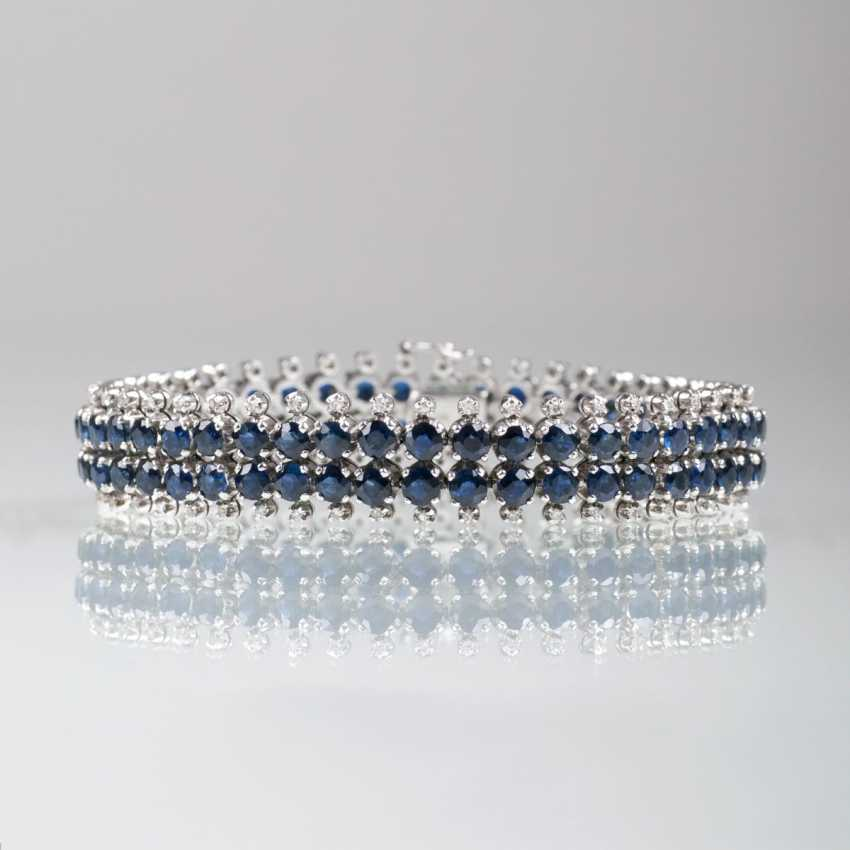 Vintage Saphir-Diamant-Armband - photo 1