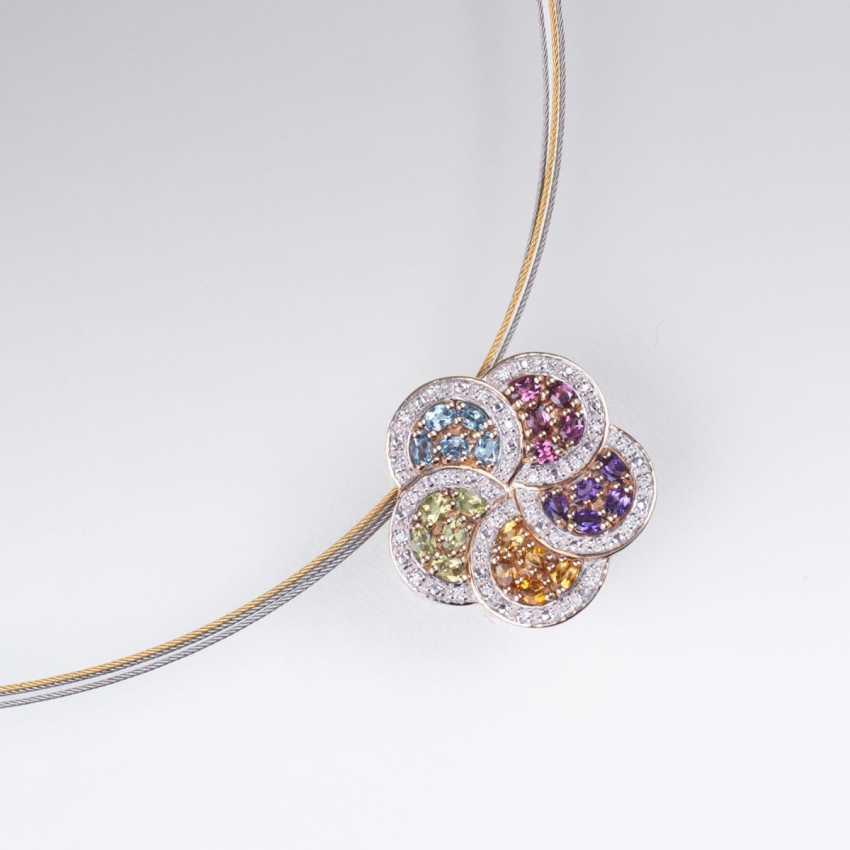Gemstone flower pendant with Mature - photo 1