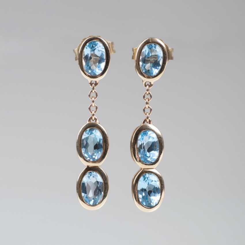 Pair Of Topaz Earrings - photo 1