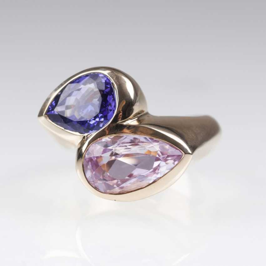 Modern Tanzanite Kunzite Ring - photo 1