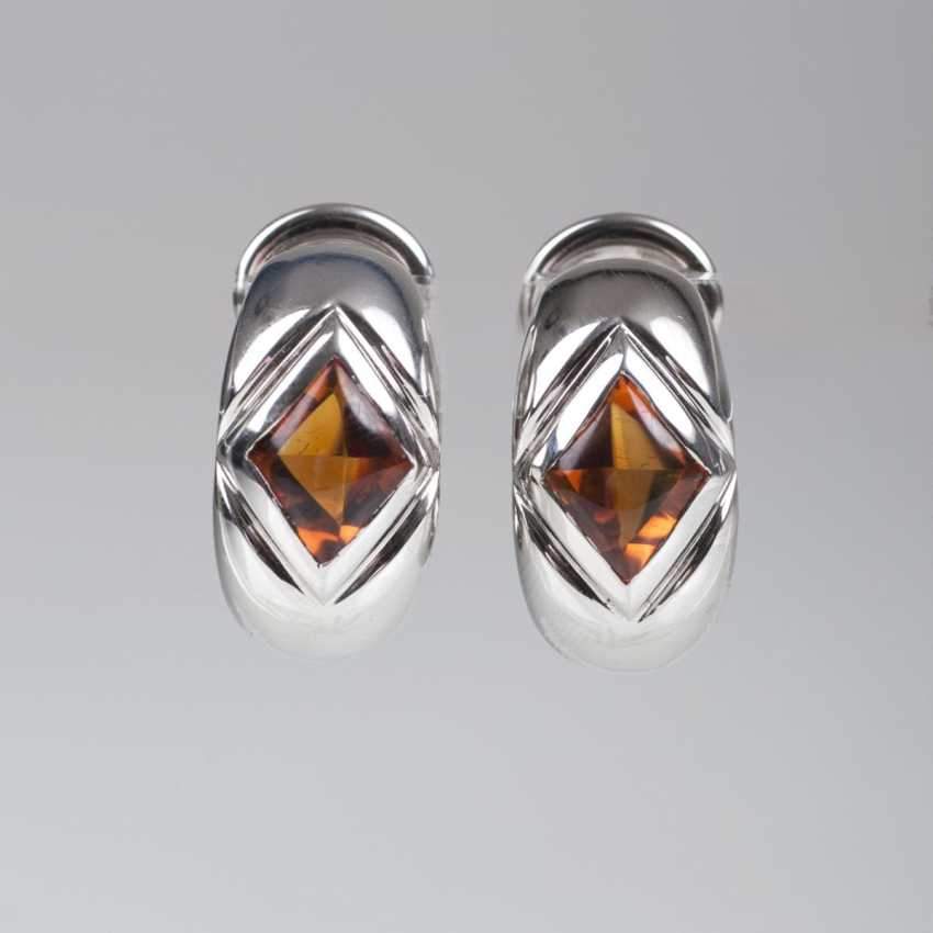 Pair of citrine earrings from Montblanc - photo 1