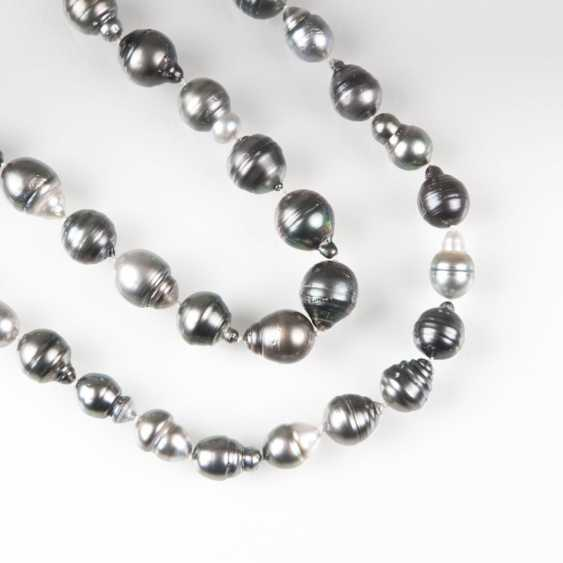 Long Tahitian Pearl Necklace - photo 1
