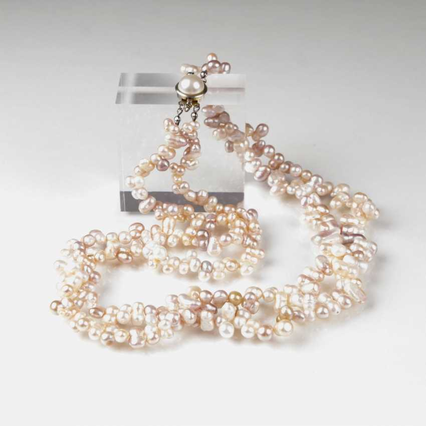 Two-Row Pearl Necklace - photo 1