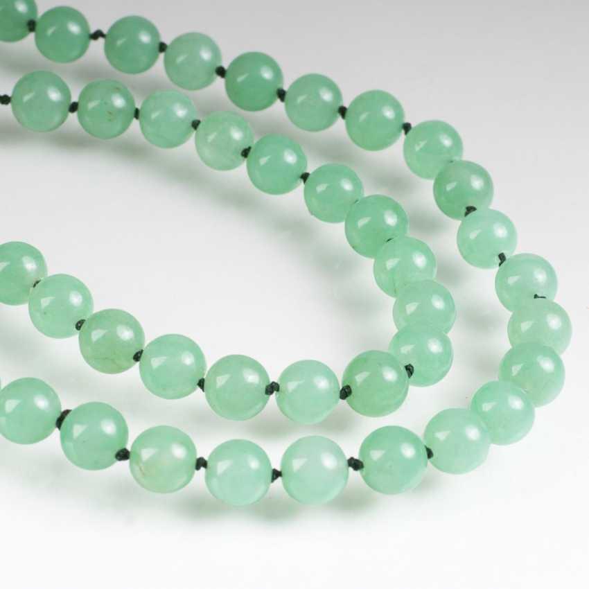 Long jadefarbene quartz chain - photo 1