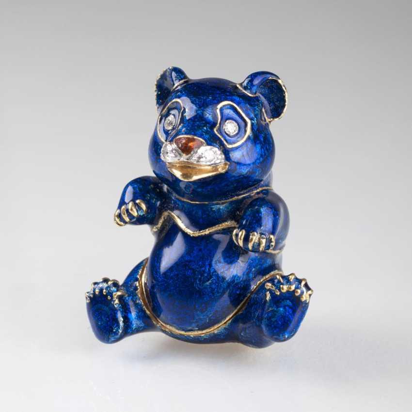 Pierino Frascarolo (Milan 1928 - Valenza, 1976). Miniature Gold Tin Of 'Blue Panda' - photo 1