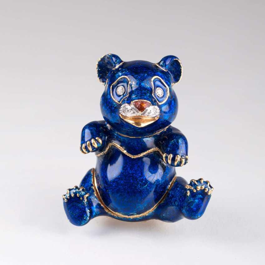 Pierino Frascarolo (Milan 1928 - Valenza, 1976). Miniature Gold Tin Of 'Blue Panda' - photo 2
