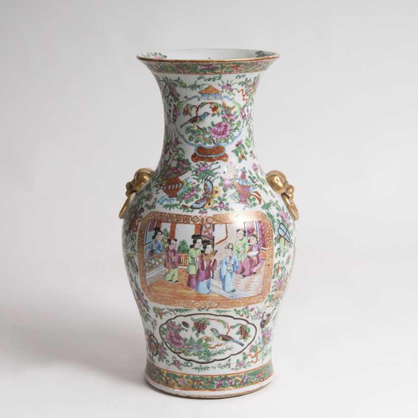 'Famille rose'-Vase im Kanton-Stil - photo 1