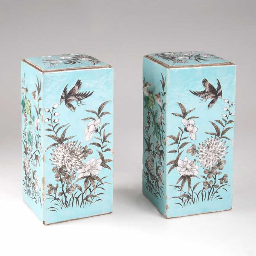 Pair of square vases with Branch handles - photo 1