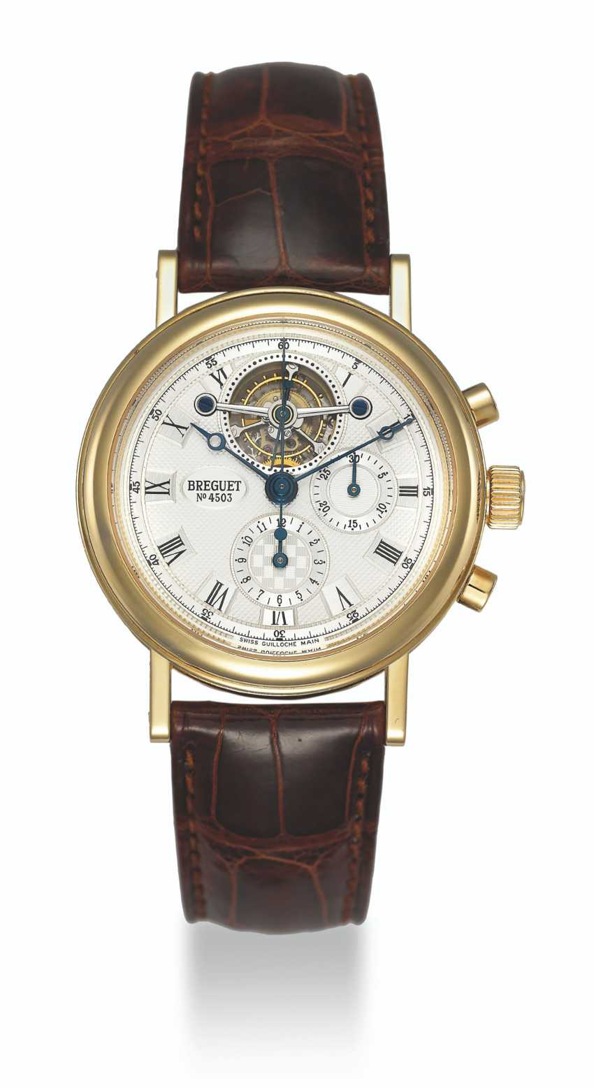 BREGUET, GOLD TOURBILLON CHRONOGRAPH, REF. 3577 - photo 1