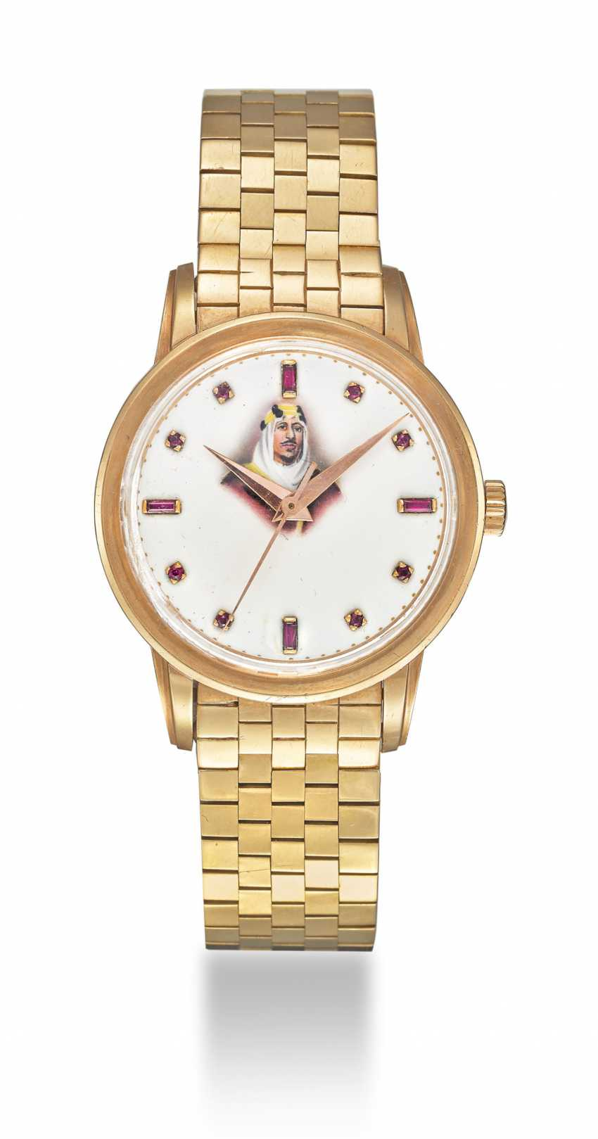 PATEK PHILIPPE, PINK GOLD AND RUBIES, REF. 2481 - MADE IN HOMAGE OF KING SAUD BIN ABDULAZIZ AL SAUD - photo 2