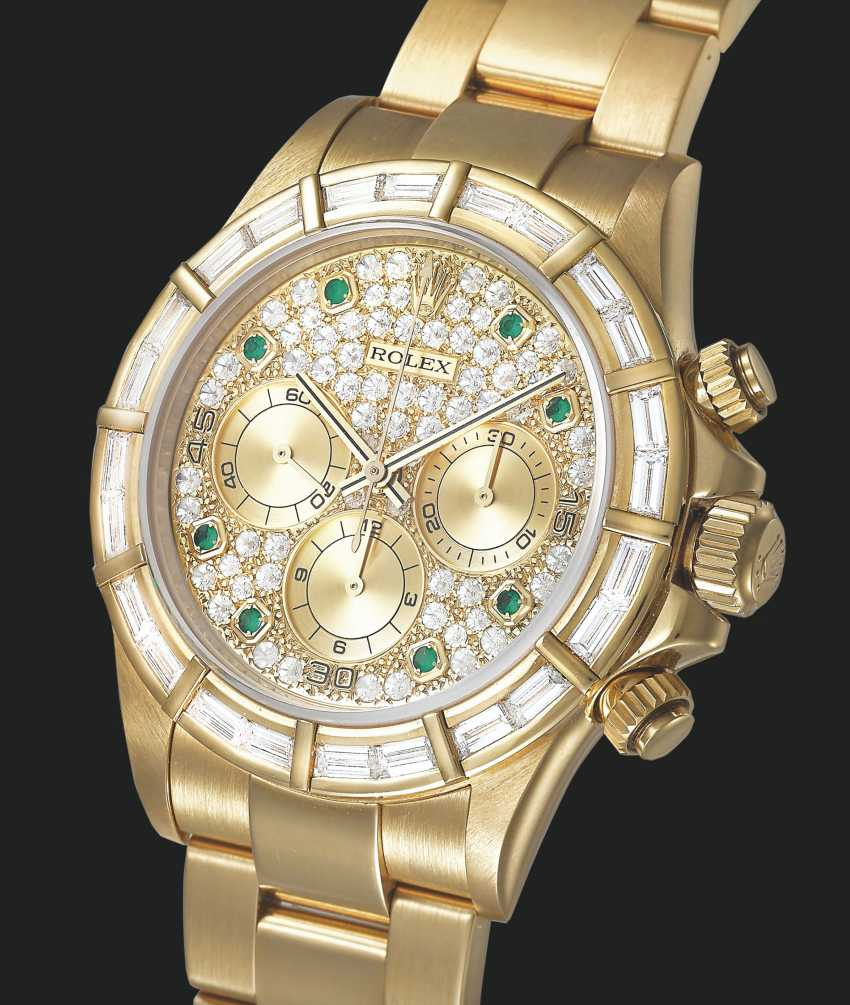 ROLEX, GOLD, DIAMONDS AND EMERALDS DAYTONA, REF. 16568 - photo 1