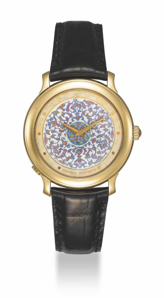 VACHERON CONSTANTIN, LIMITED EDITION GOLD WITH CHAMPLEVÉ ENAMEL DIAL BY M. SECHAUD, NO. 6/10 - photo 2