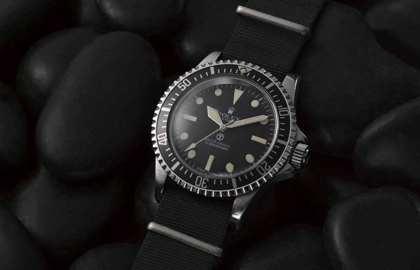 """ROLEX, STEEL SUBMARINER """"MILSUB"""", REF. 5513/17- MADE FOR THE BRISTISH ROYAL NAVY - photo 1"""