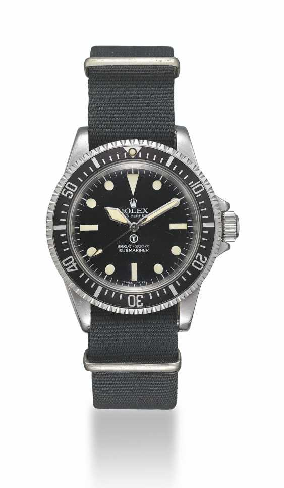 """ROLEX, STEEL SUBMARINER """"MILSUB"""", REF. 5513/17- MADE FOR THE BRISTISH ROYAL NAVY - photo 2"""