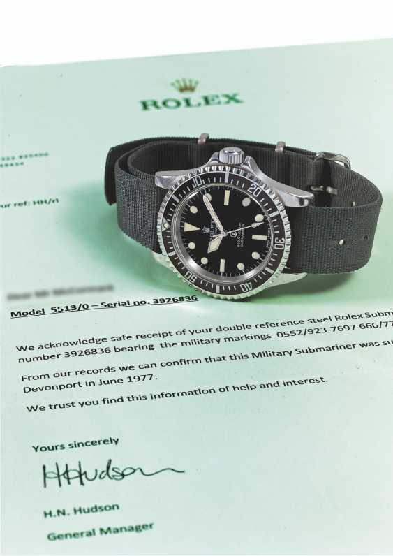 """ROLEX, STEEL SUBMARINER """"MILSUB"""", REF. 5513/17- MADE FOR THE BRISTISH ROYAL NAVY - photo 3"""