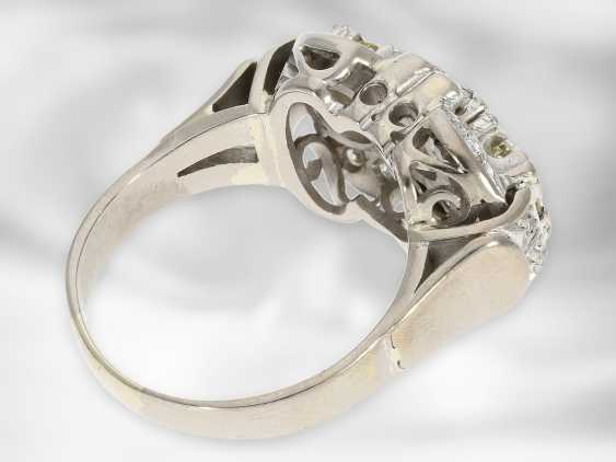 Ring: opulent vintage diamond ring, approx. 1.41ct in total, 14K white gold - photo 3