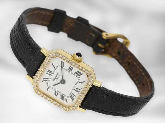 Wrist watch: Chopard, vintage jewelery watch with diamonds, 18K gold - photo 1