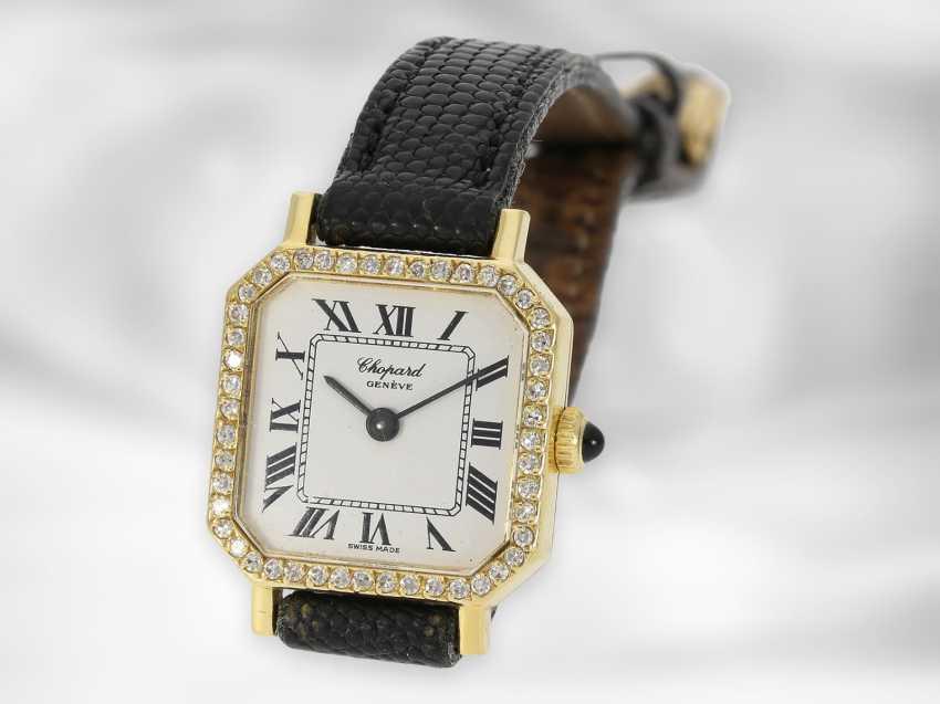 Wrist watch: Chopard, vintage jewelery watch with diamonds, 18K gold - photo 2