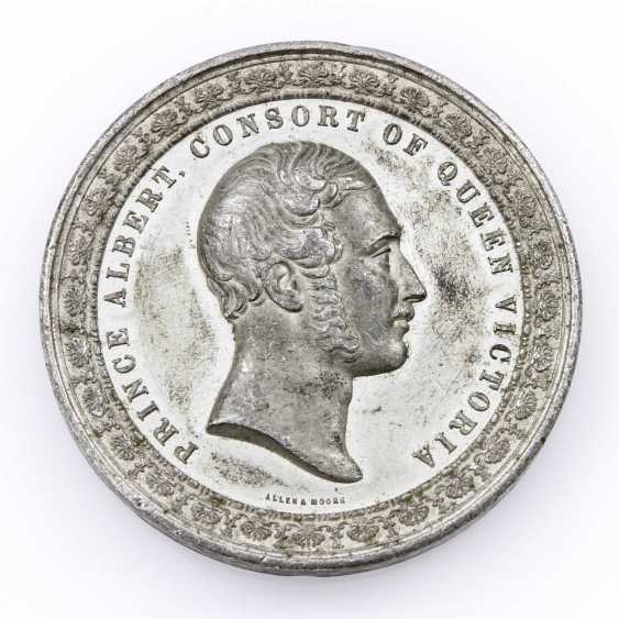 England - World Exhibition In 1851, Pewter Medal, - photo 1