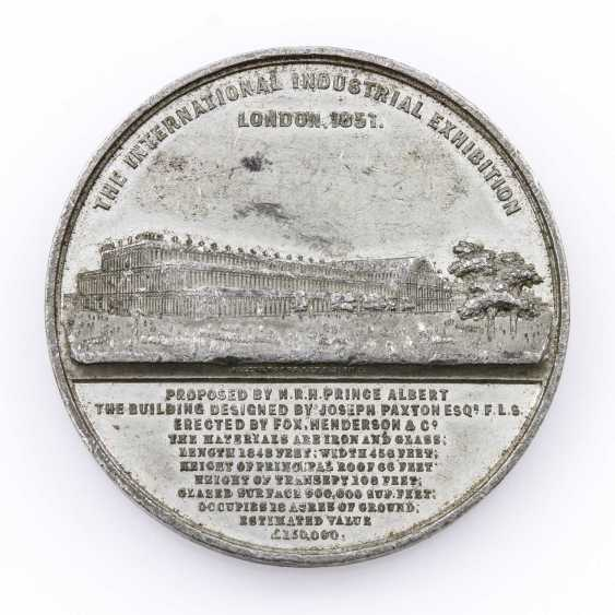 England - World Exhibition In 1851, Pewter Medal, - photo 2