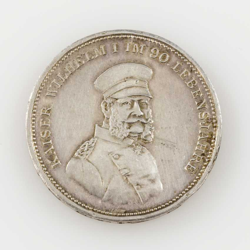 Prussia silver medal for 1897 v. Lauer on the 100. Birthday - photo 1