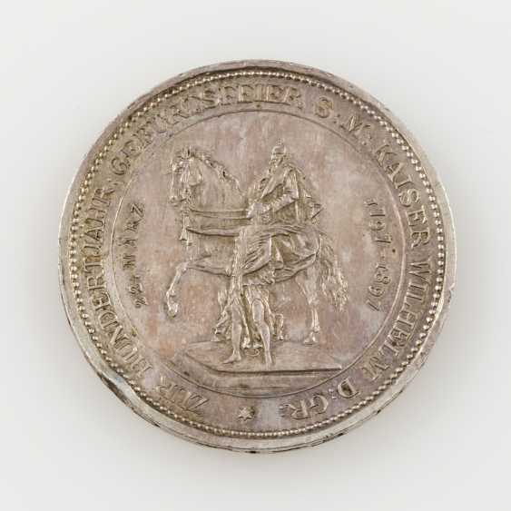 Prussia silver medal for 1897 v. Lauer on the 100. Birthday - photo 2