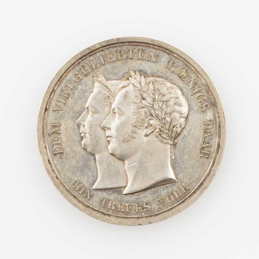 Württemberg, silver medal, 1823, William I.(1816-1864), from Voigt and Loos, - photo 1