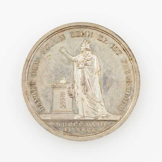 Württemberg, silver medal, 1823, William I.(1816-1864), from Voigt and Loos, - photo 2